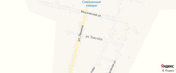 Улица Толстого на карте села Бехтеевки с номерами домов