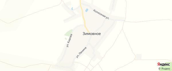 Карта Зимовного села в Белгородской области с улицами и номерами домов