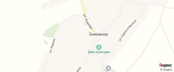 Колхозная улица на карте Зимовного села с номерами домов