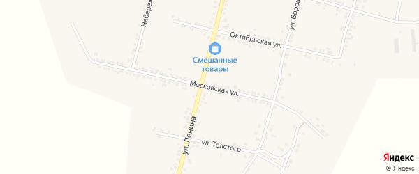 Московская улица на карте села Бехтеевки с номерами домов