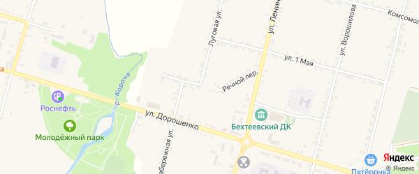 Речной переулок на карте села Бехтеевки с номерами домов