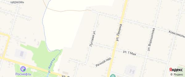 Луговая улица на карте села Бехтеевки с номерами домов