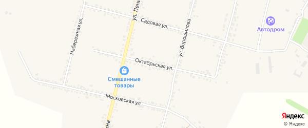Октябрьская улица на карте села Бехтеевки с номерами домов