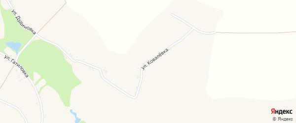 Улица Ковалевка на карте села Поповки с номерами домов