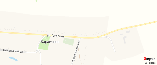 Улица Гагарина на карте Караичного села с номерами домов