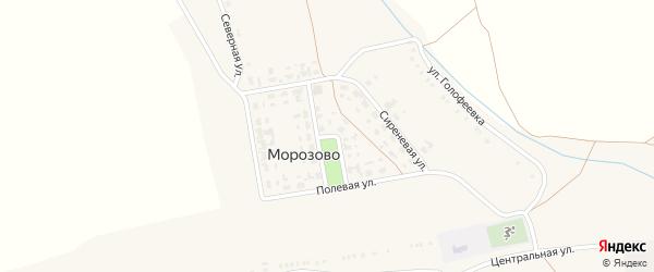 Солнечная улица на карте села Морозово с номерами домов