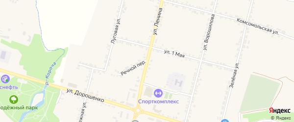 Улица Ленина на карте села Бехтеевки с номерами домов