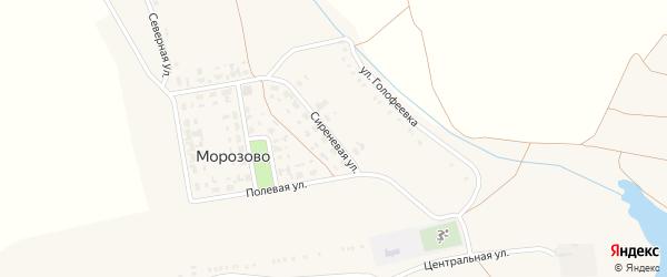 Сиреневая улица на карте села Морозово с номерами домов