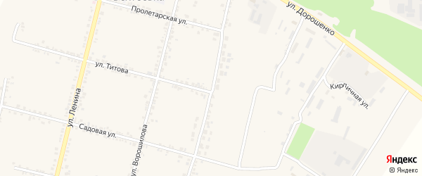Зеленая улица на карте села Бехтеевки с номерами домов
