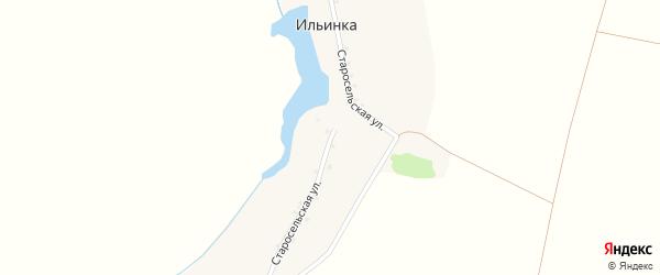 Старосельская улица на карте хутора Ильинки с номерами домов
