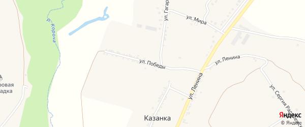 Улица Победы на карте села Подкопаевки с номерами домов