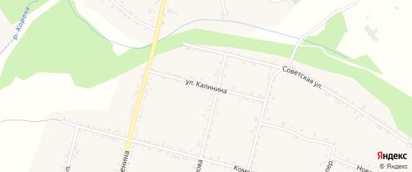 Улица Калинина на карте села Бехтеевки с номерами домов