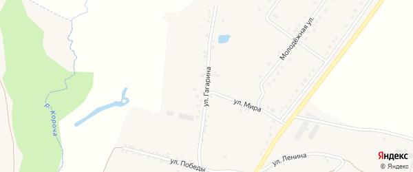 Улица Гагарина на карте села Казанки с номерами домов