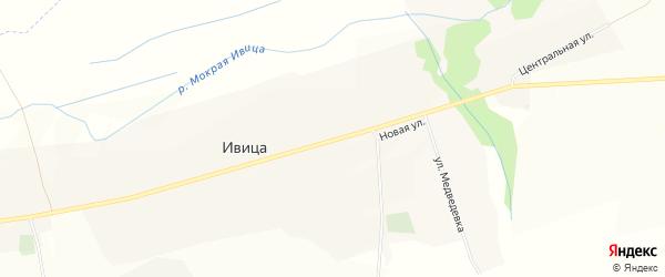 Карта села Ивицы в Белгородской области с улицами и номерами домов