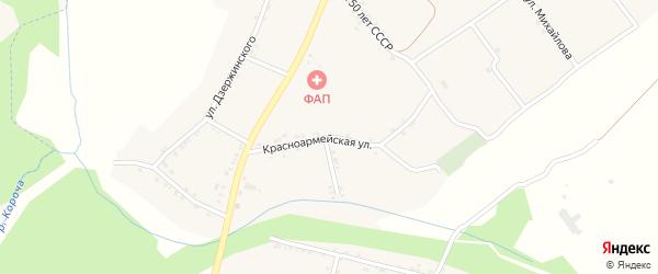 Красноармейская улица на карте села Казанки с номерами домов