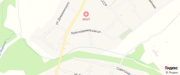 Переулок Володарского на карте села Казанки с номерами домов