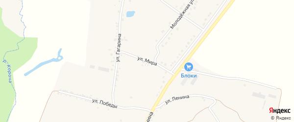 Улица Мира на карте села Казанки с номерами домов
