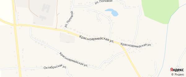 Красноармейская улица на карте Скородного села с номерами домов