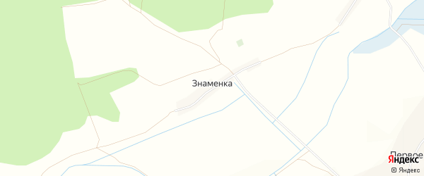 Карта хутора Знаменки в Белгородской области с улицами и номерами домов
