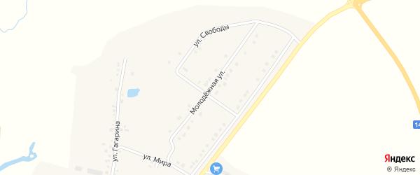 Молодежная улица на карте села Казанки с номерами домов