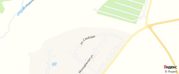 Улица Свободы на карте села Казанки с номерами домов