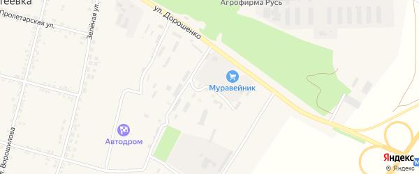 Кирпичная улица на карте села Бехтеевки с номерами домов