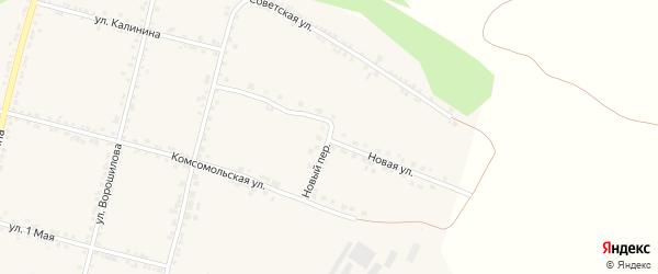 Новая улица на карте села Бехтеевки с номерами домов