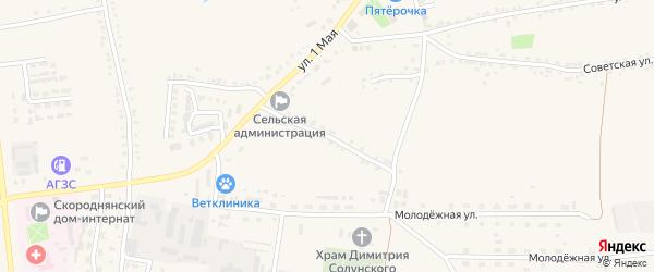 Переулок Чайковского на карте Скородного села с номерами домов
