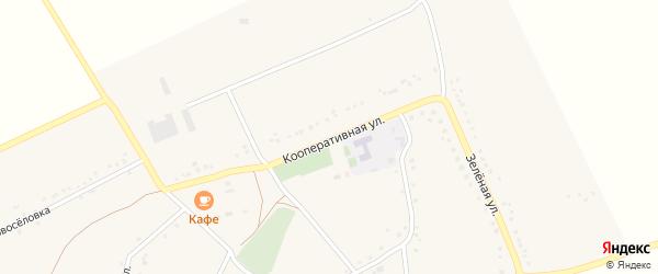 Кооперативная улица на карте села Верхнеберезово с номерами домов