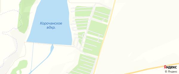 Корочанское СТ на карте села Казанки с номерами домов
