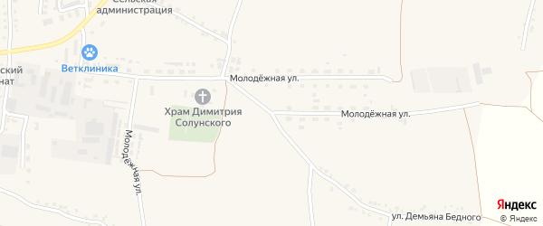 Молодежная улица на карте Скородного села с номерами домов