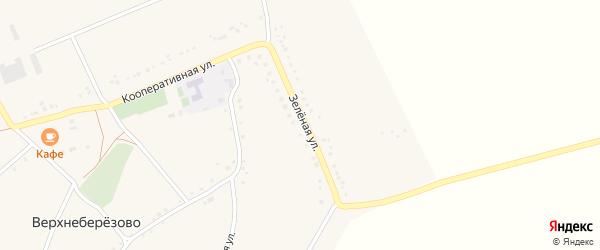 Зеленая улица на карте села Верхнеберезово с номерами домов