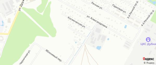 1-я Космическая улица на карте Дубны с номерами домов