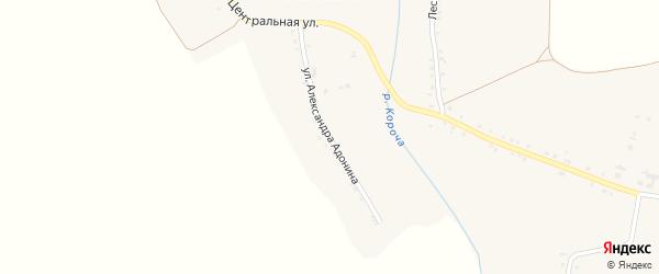 Улица Александра Адонина на карте села Ольховатки с номерами домов