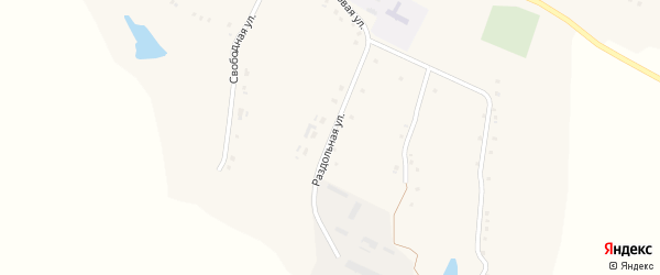 Раздольная улица на карте Толстого села с номерами домов