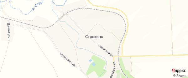 Карта села Строкино в Белгородской области с улицами и номерами домов