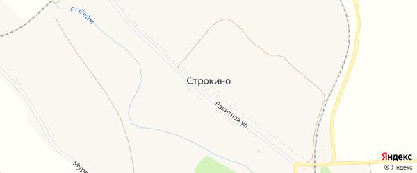 Путейный переулок на карте села Строкино с номерами домов