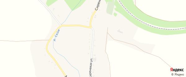 Сиреневая улица на карте села Строкино с номерами домов