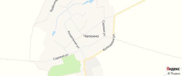Карта села Чапкино в Белгородской области с улицами и номерами домов