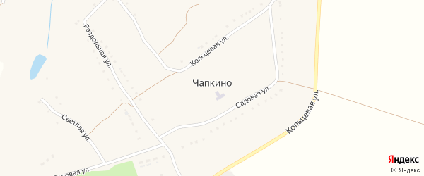 Кольцевая улица на карте села Чапкино с номерами домов