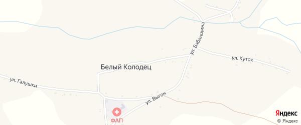 Улица Бабанщина на карте села Белого Колодца с номерами домов