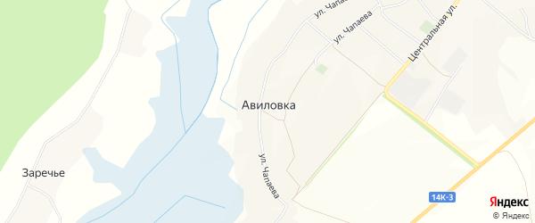 Карта села Авиловки в Белгородской области с улицами и номерами домов