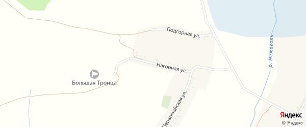 Нагорная улица на карте Большетроицкого села с номерами домов