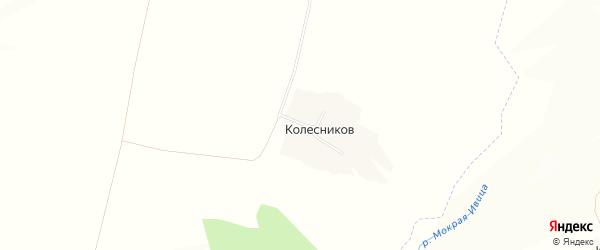 Карта хутора Колесникова в Белгородской области с улицами и номерами домов