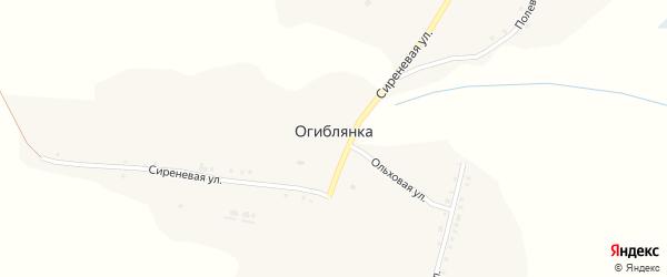 Сиреневая улица на карте села Огиблянки с номерами домов