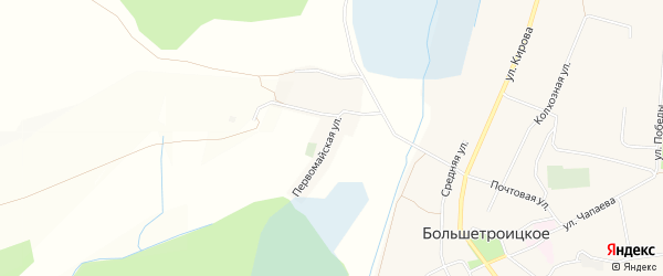 Карта хутора Заречья в Белгородской области с улицами и номерами домов