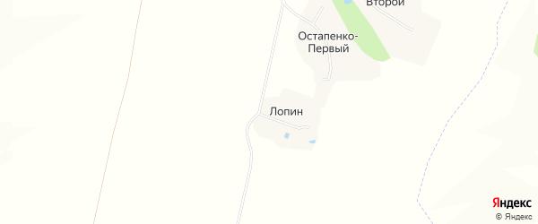 Карта хутора Лопина в Белгородской области с улицами и номерами домов