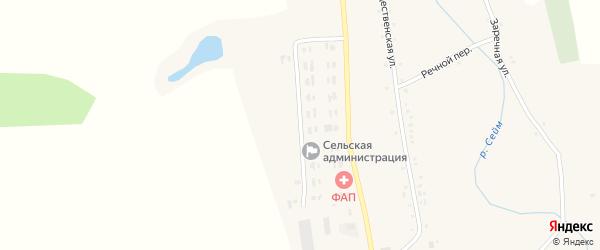 Молодежная улица на карте села Вислой Дубравы с номерами домов