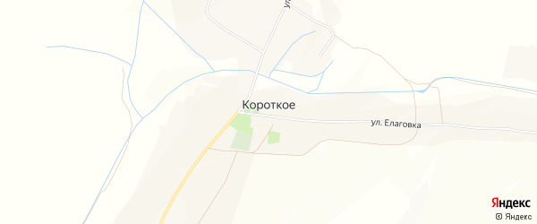 Карта Короткого села в Белгородской области с улицами и номерами домов
