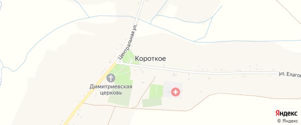 Улица Цыгановка на карте Короткого села с номерами домов